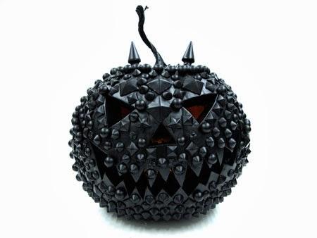 black studded pumpkin