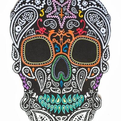 DIY Halloween Mexican skull wall art