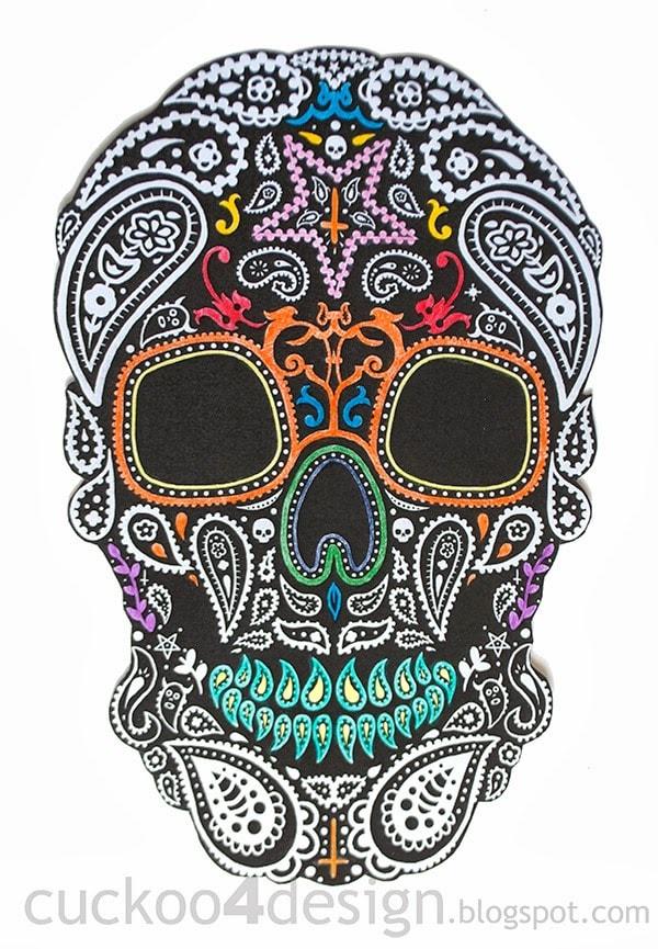 DIY Halloween Mexican skull wall art | Cuckoo4Design