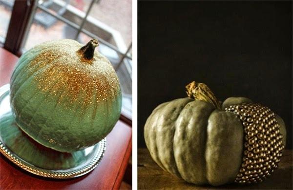 green and gold pumpkin