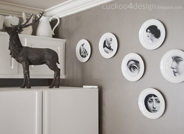 DIY Pierro Fornasetti plates by cuckoo4design