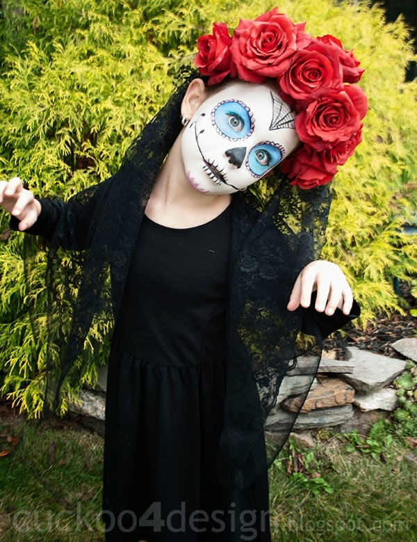 kids diy sugar skull halloween costume