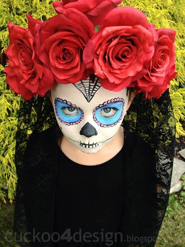 Easy Sugar Skull Halloween Costume Cuckoo4design