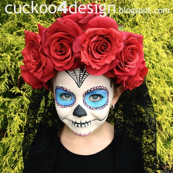 sugar skull costume kids
