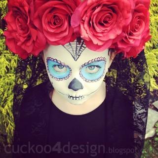 Kids DIY Sugar Skull Halloween Costume - Day of the Dead costume | Dia de Los Muertos | sugar skull | Kids halloween costume | Homemade costume | cheap costume for kids