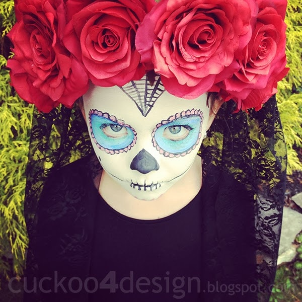 easy sugar skull halloween costume