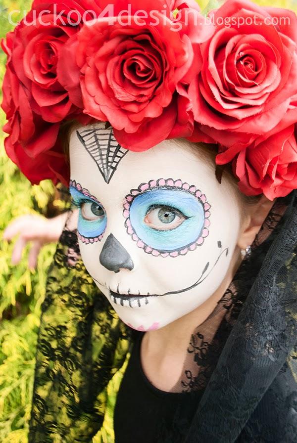 sugar skull little girl Halloween costume