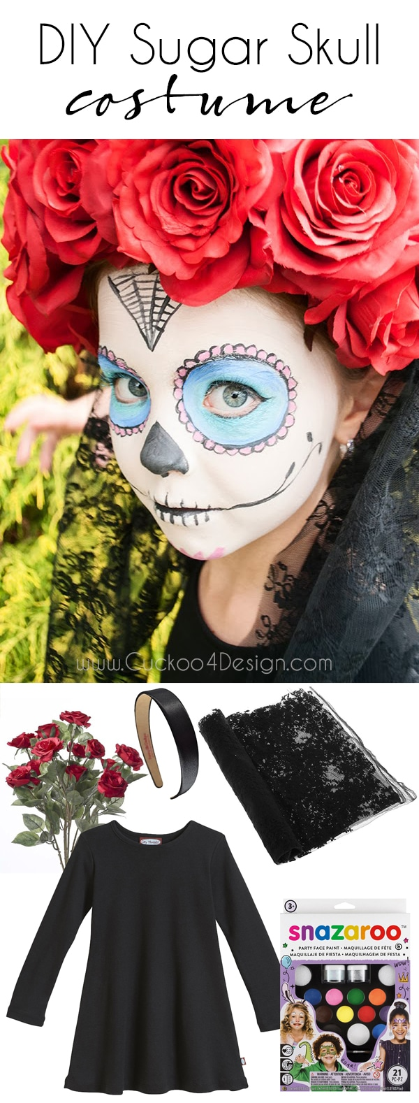 sugar skull costume what to wear