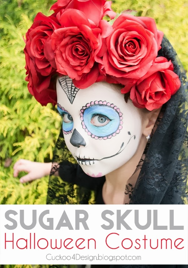 GirlsDIY Sugar Skull Halloween Costume