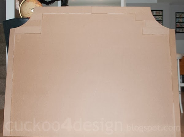 MDF headboard shape for DIY fabric headboard