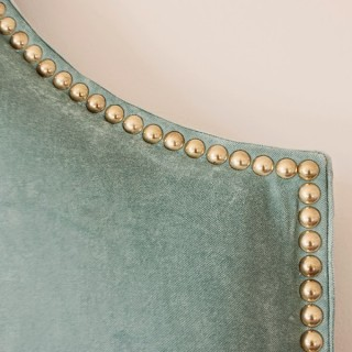 DIY Fabric Headboard with Nailhead Trim