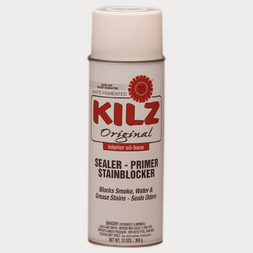 Kilz Spray primer for painting laminate cabinets