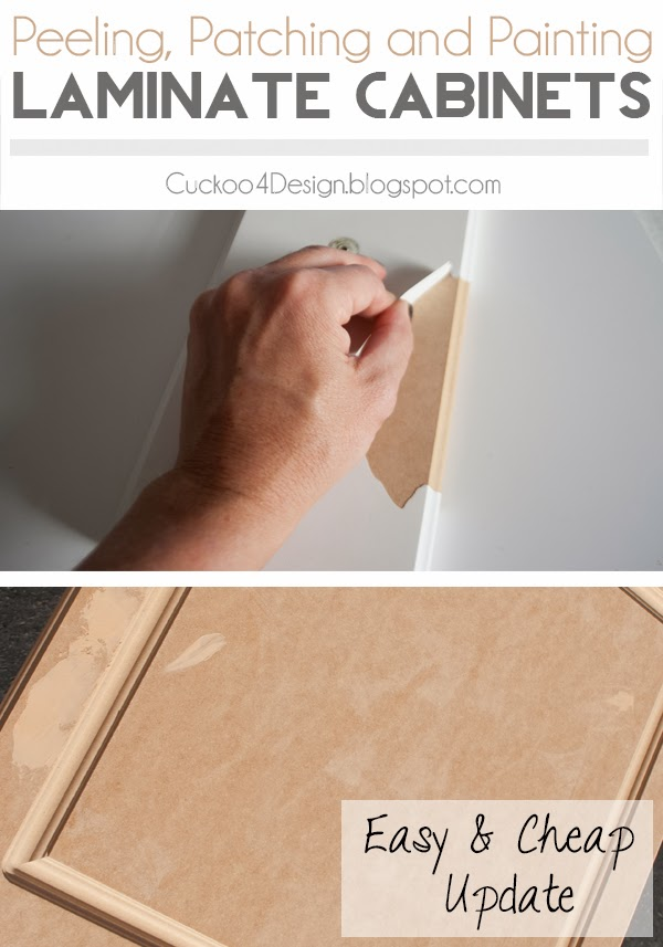 Painting laminate kitchen cabinets cuckoo4design for Can you paint wood veneer kitchen cabinets