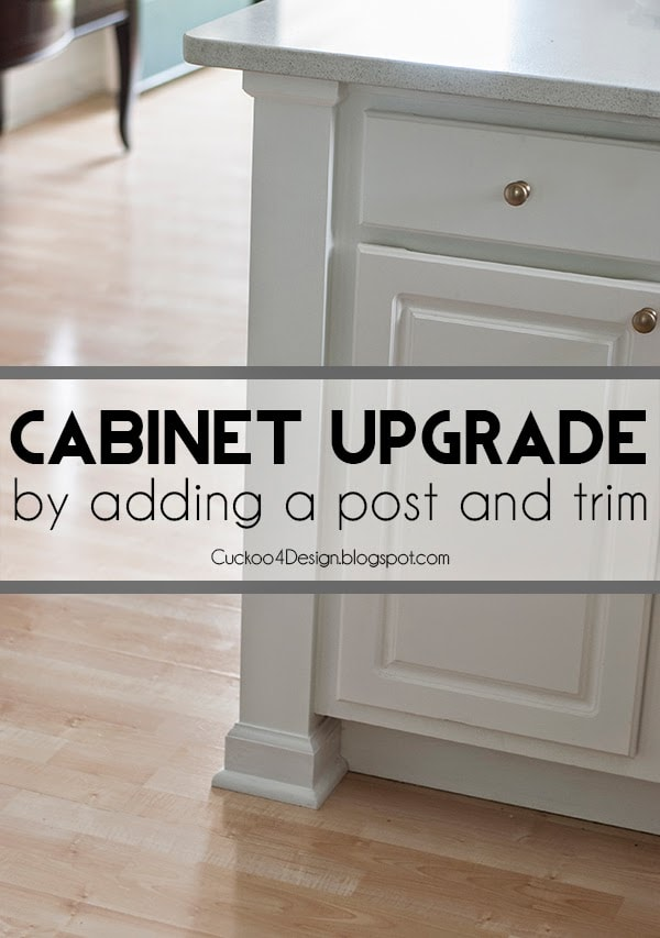 upgrading your builder standard cabinets by adding a post and molding