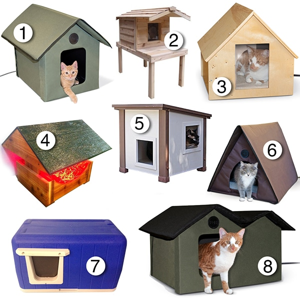 best heated outdoor feral stray-cat houses