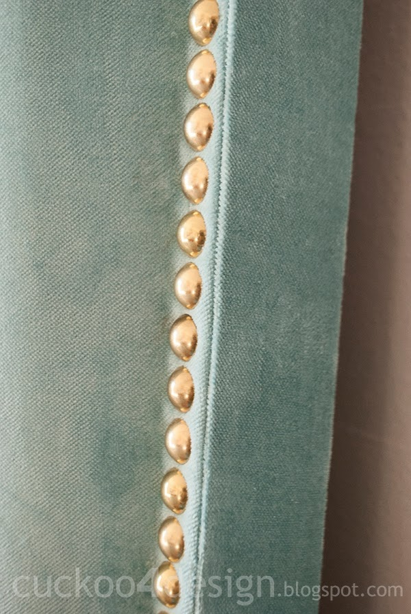 perfect upholstery edges of velvet headboard