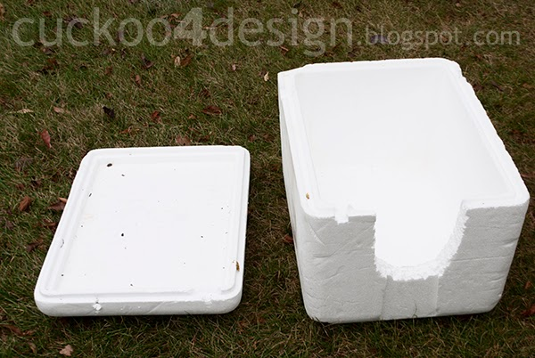 insulated box for igloo cat house