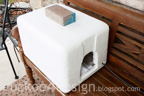 Outdoor Heated Igloo Cat House Cuckoo4design