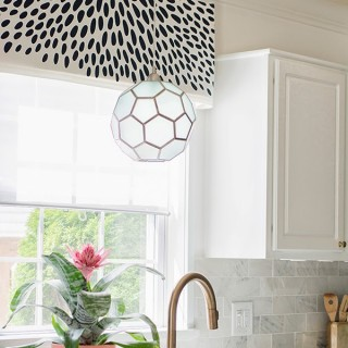 DIY spotted window valance