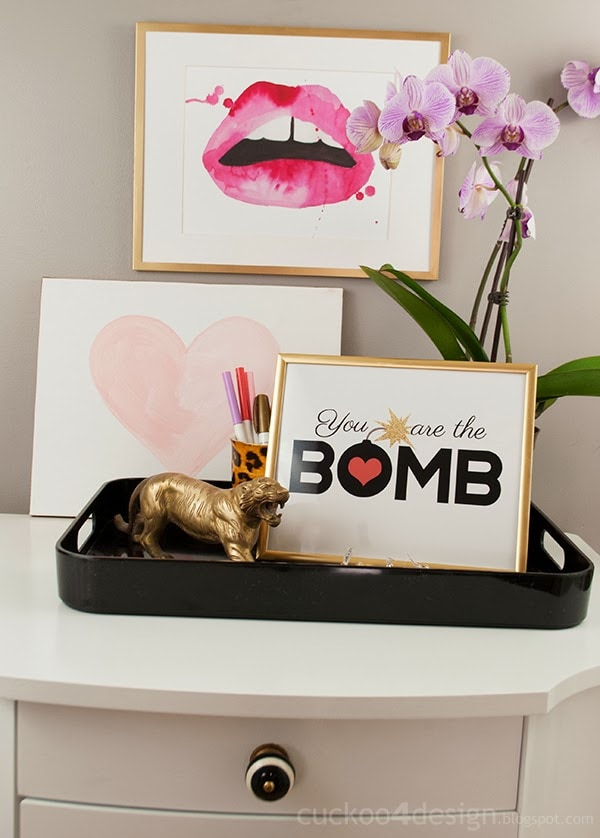 You are the bomb FREE Valentines Day printable by Cuckoo 4 Design