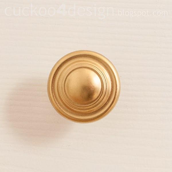 gold knobs on dresser