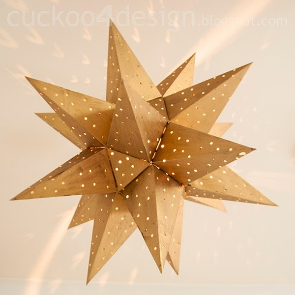 gold star ceiling light