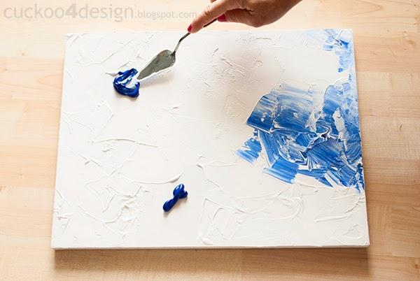 Blue Canvas Art Diy: DIY Abstract Artwork Tutorial