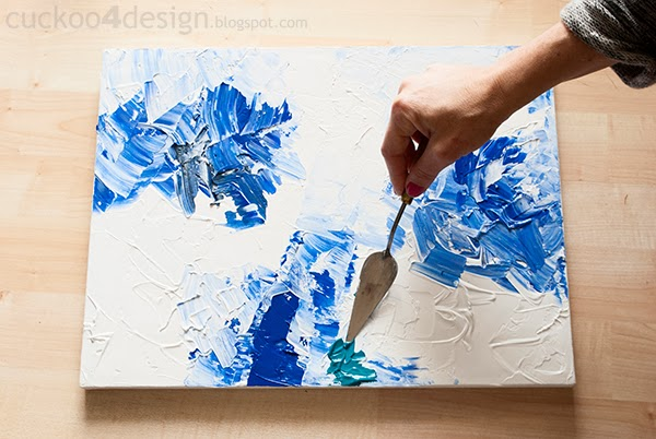DIY Abstract Artwork Tutorial | Cuckoo4Design