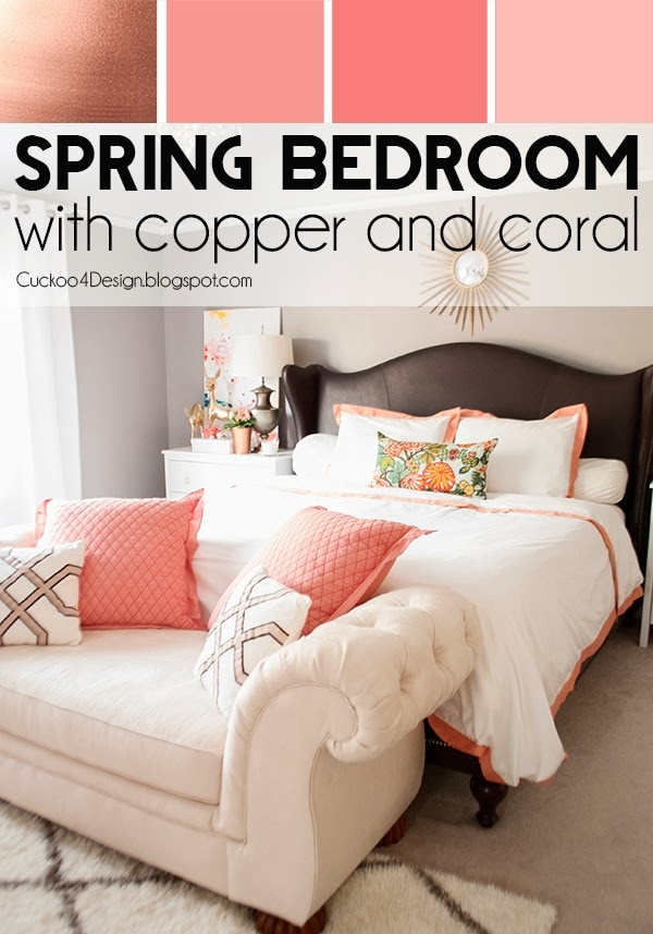 Copper Coral And Blush Bedroom Cuckoo4design