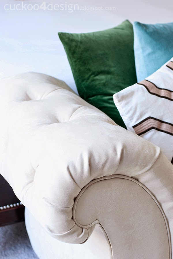 Upholstering a button tufted chaise