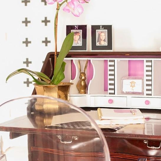 Radiant Orchid Desk Makeover