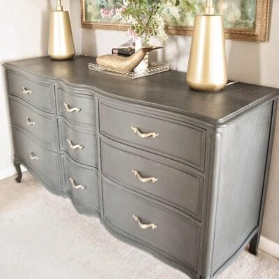 French Provincial Annie Sloan Graphite Dresser