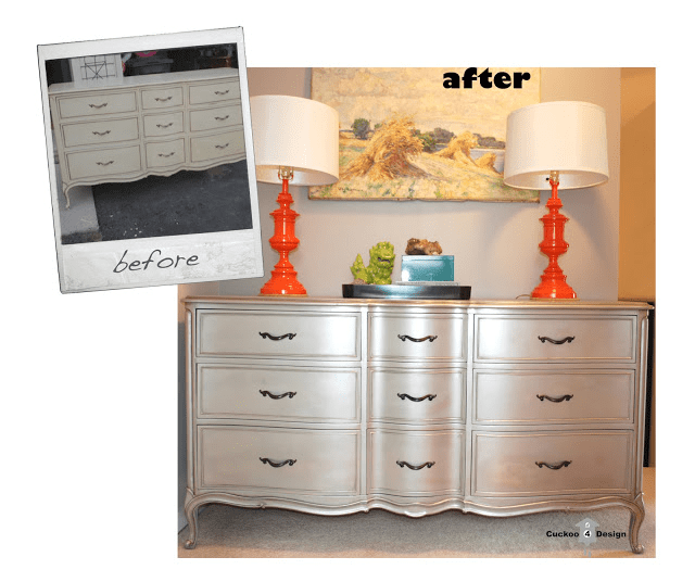 Annie Sloan Graphite dresser before makeover