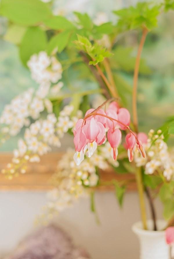 flowers on Annie Sloan Graphite dresser