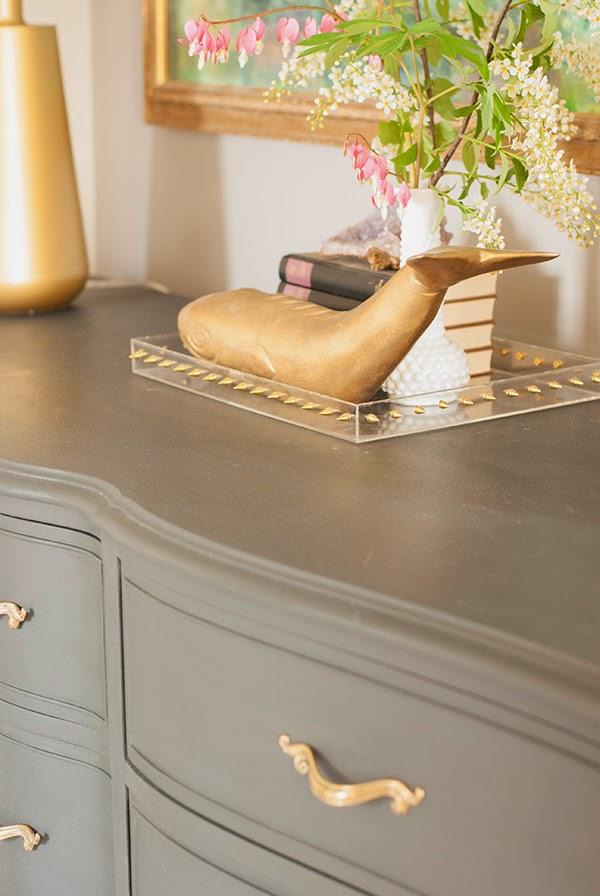 furniture vignette with Annie Sloan Graphite dresser