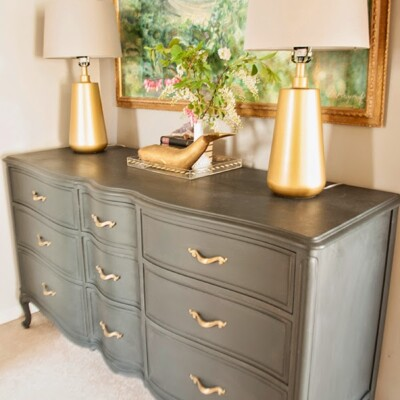 French Provincial Annie Sloan Graphite Dresser