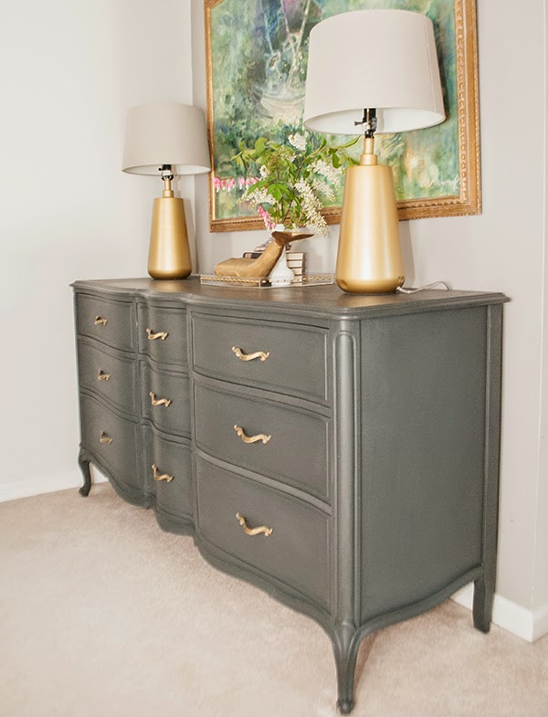 Annie Sloan Graphite French Provincial dresser