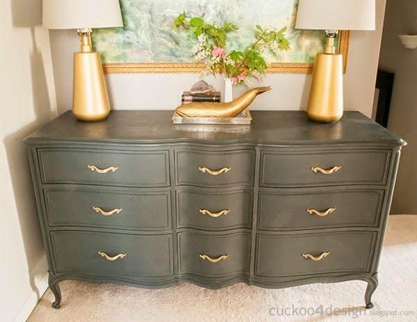 large Annie Sloan Graphite dresser