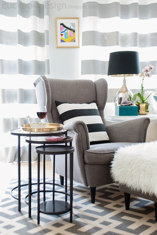 nesting table giveaway and a refreshed living room cuckoo4design. Black Bedroom Furniture Sets. Home Design Ideas