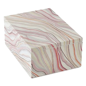 box that inspired my marbled watercolor curtains
