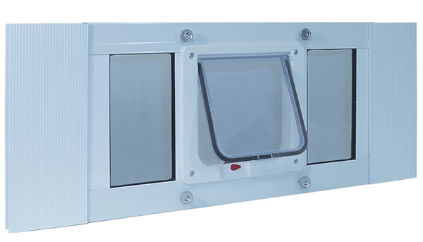 Custom electronic pet door contraption cuckoo4design all i did was take out the regular middle cat flap door buy unscrewing it solutioingenieria Gallery