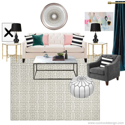 Moodboard inspired by my living room