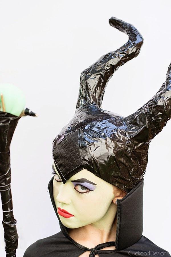 inserted felt piece of diy maleficent costume
