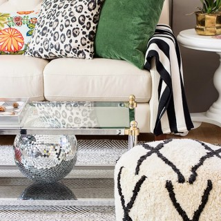 neutral living room with hints of color