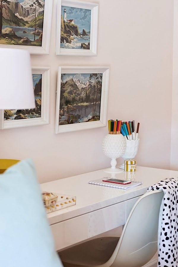 Organized Girl's Desk Area