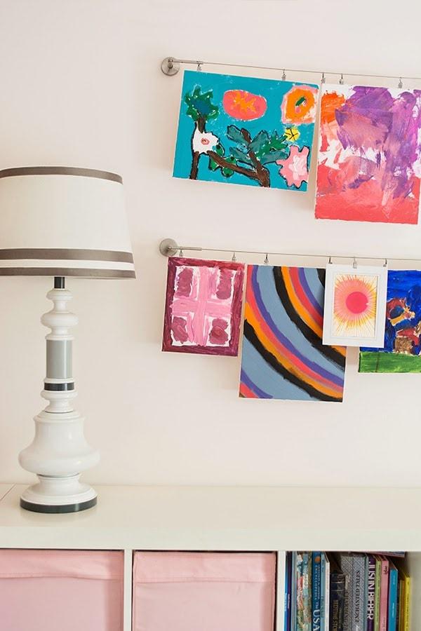 Organizing and displaying kids artwork