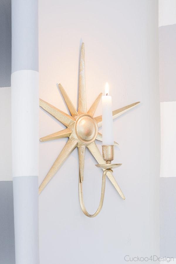 gold starburst candle holder
