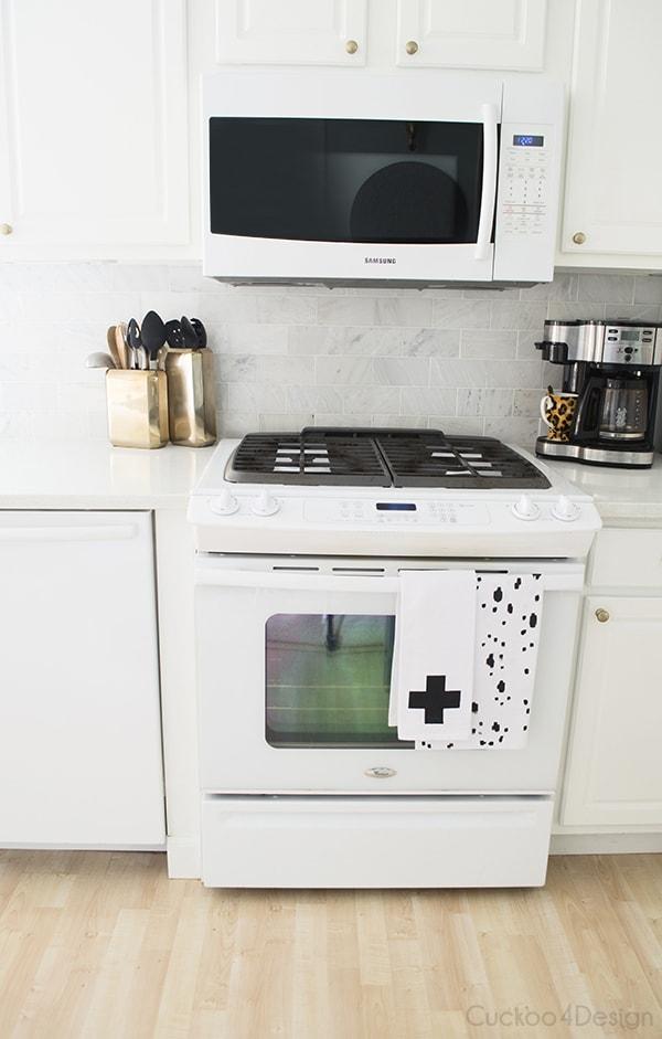 Fabric Painted Floursack Dishtowels