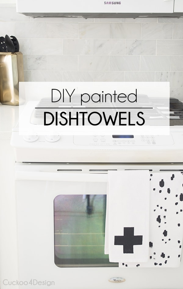 DIY painted dishtowels