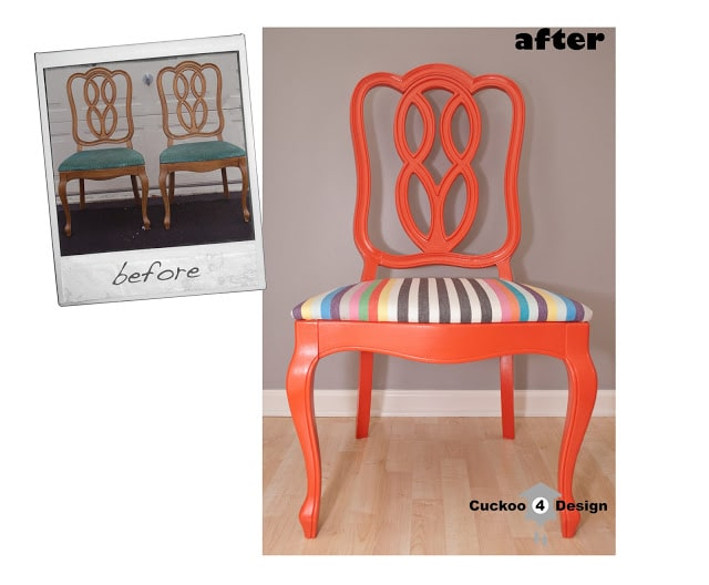 1965 Thomasville chair makeover by cuckoo4design